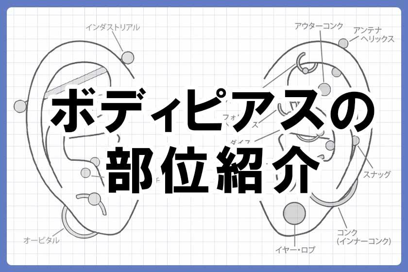 軟骨ピアスのかわいい位置紹介~ロック・スナッグ・トラガスって?~
